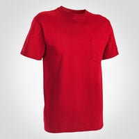 Men's Basic Cotton Pocket Tee TRUE RED