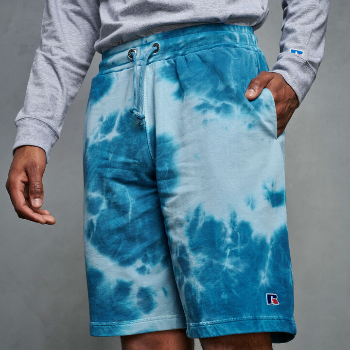 Men's Heritage Tie Dye French Terry Fleece Shorts BLUE