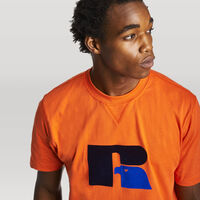 Men's Heritage Heavyweight Flock T-Shirt ORANGE