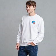 Dri-Power Fleece Logo Sweatshirt WHITE