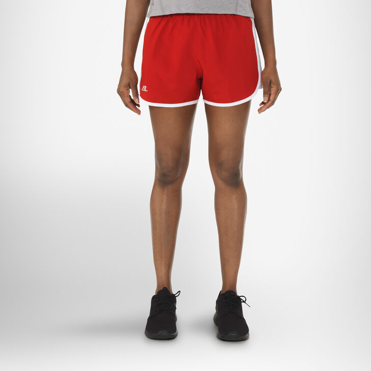Women's Woven Running Shorts TRUE RED/GSV/WHITE