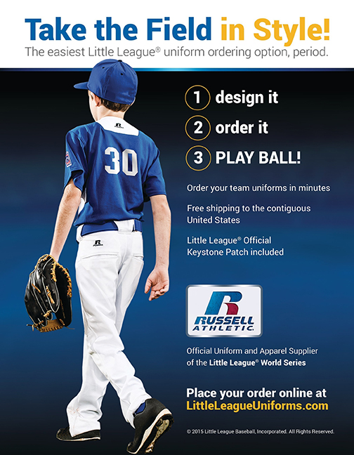 e99cc7ed7f45 Little League® and Russell Athletic® Team Up to Launch New Online Uniform  Builder Site
